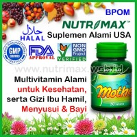 Nutrimax Mother Best Vitamin Nutrisi Gizi Untuk/Buat Ibu Hamil & Janin