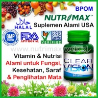 Nutrimax Clear Vision With Eyebright Herb isi 30 Vitamin Untuk Mata