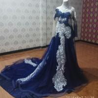 Kebaya pengantin / Gaun pengantin ekor / gaun pengantin muslim