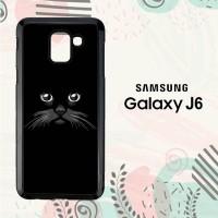 Casing Samsung Galaxy J6 2018 HP Peek a Boo Black Cat LI0244