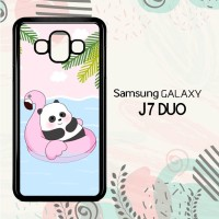 Casing Samsung Galaxy J7 Duo HP Cute Panda Summer LI0213