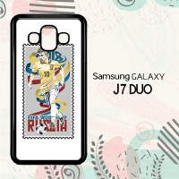 Casing Samsung Galaxy J7 Duo HP Postal Stamp Brazil L2595