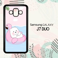 Casing Samsung Galaxy J7 Duo HP Cute Polar Bear Summer LI0215