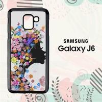 Casing Samsung Galaxy J6 2018 HP Woman Flower LI0202