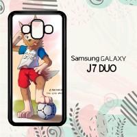Casing Samsung Galaxy J7 Duo HP Zabivaka Fifa 2018 Mascot L2622