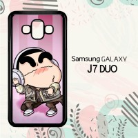 Casing Samsung Galaxy J7 Duo HP Cute Shinchan Listen Music LI0216