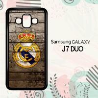 Casing Samsung Galaxy J7 Duo HP Real Madrid Logo LI0249