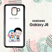 Casing Samsung Galaxy J6 2018 HP Cute Doraemon and Nobita LI0207