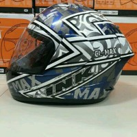 Helm INK CL MAX Seri 2 Black Silver Gun metal