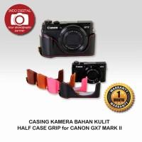 CASING KAMERA BAHAN KULIT HALF CASE GRIP for CANON GX7 MARK II
