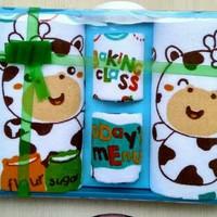Kiddy set perlengkapan mandi bayi - Set handuk bayi dan waslap