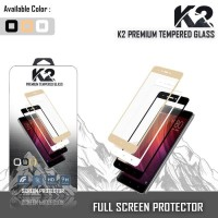 case hp Tempered Glass WARNA K2 PREMIUM FULL LAYAR LG K10 / HUAWEI P9