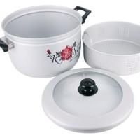 Panci Kukus U002F Steamer Rice Cooker Maspion 26Cm (Panca Guna) Murah