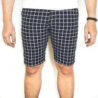 Perfect Square black white hitam putih flanel celana pendek short