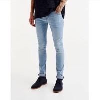 Pull & Bear Super Skinny Jeans Biru Muda