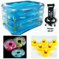 Promo Tokopedia - Kolam Spa Intime Kotak + Pompa + Bebek