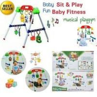 Promo Tokopedia - (PROMO) Theona.Tata Baby musical play gym / musik m