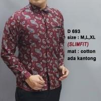 ELEGAN BATIK SHOP Baju Batik Pria Lengan Panjang Kemeja Batik Solo Sli 09e67daf41