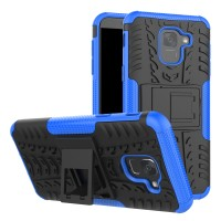 RUGGED ARMOR case Samsung J6 2018 softcase casing hp cover kick stand