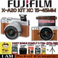 FUJIFILM X-A20 KIT 15-45MM / FUJI X-A20 /XA20 PAKET MEWAH