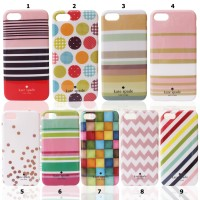 Kate Spade Iphone 5s - Softshell / Silikon Motif / Back Case / Cover
