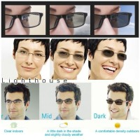 Lensa kacamata minus baca silindris photochromic