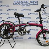 FREE ONGKIR - Sepeda Lipat Pacific 2980 HT 16 Inci Garansi 5Th