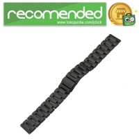 Stainless Steel Strap Watch Band 3 Pointer for Samsung Gear S3 - Hitam