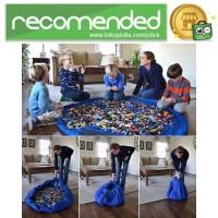Kantong Mainan Lego Portable - Biru