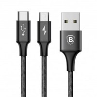 Baseus Rapid Series 2 In 1 Kabel Charger USB Type C & Micro USB