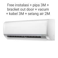 Midea AC 1/2 PK Low Watt MSFO-05CRLN2 Free Pipa & bracket