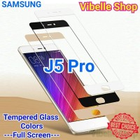 Tempered Glass Warna SAMSUNG J5 Pro FULL SCREEN COVER J5pro J 5 Pro