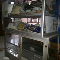 Etalase Kaca Lemari Jualan Dagang Showcase Makanan Barang Produk
