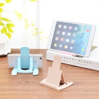 phone holder foldable stand hp lipat plastik kuat portable travel