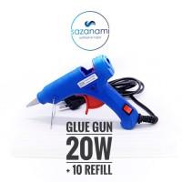 Jual Promo Alat Lem Tembak 20 Watt + 10 Refill 27cm PAket glue gun bakar Murah