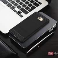 Best Samsung C7 C9 PRO spigen like cover softcase carbon hp case FIBE