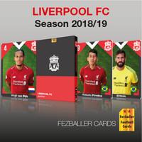 kartu bola Fezballer Card LIVERPOOL FC season 2018/2019