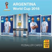 Kartu Bola Fezballer Cards edisi team ARGENTINA World Cup 2018