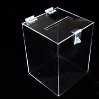 Akrilik kotak saran-amal kecil ACRYLIC