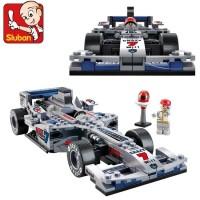Mainan Edukatif Sluban Racing Car Silver Arrow Brick Lego Kompatibel