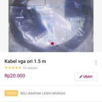 KABEL CABLE VGA ORI ORIGINAL 1.5M 1.5 M