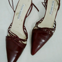 Sepatu Tali Heels Genuine Leather 38