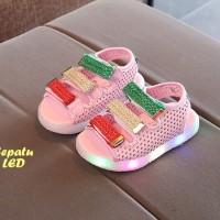 Sepatu SANDAL LED (Sepatu sandal keren dengan lampu LED warna warni)