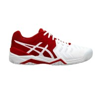 Sepatu Tennis Asics Gel Resolution 7 Novak - White/Red Original