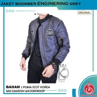 Jaket Bomber Pilot Pria Original KENT ENGINERING GREY