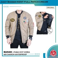 Jaket Bomber Pilot Pria Original KENT FULL PATCH CREAM