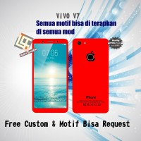 Garskin HP Vivo V7 Motif Iphone Red - motif bisa request