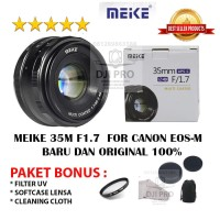 Lensa Meike 35mm F1.7 For Mirrorless CANON EOS M (EOS M6,EOS M100,M5)
