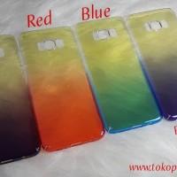 Samsung S8 AURORA GRADIENT TRANSPARAN CASE / case samsung s8