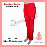 Celana Senam Warna List | Olahraga | Gym | Fitnes | Dimen Shop